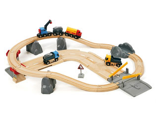 BRIO Rail & Road Kivenlastausrata