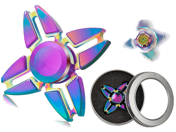 Metallinen crazy rainbow 2 spinneri